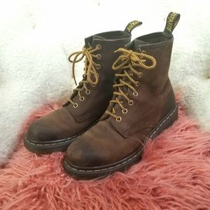 Dr. Martens Brown Leather combat boots